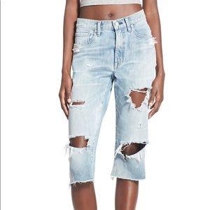 AGoldE 'Dakota' Destroyed Crop Jeans Sz 24